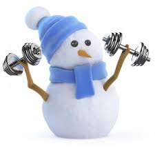 snowman working out