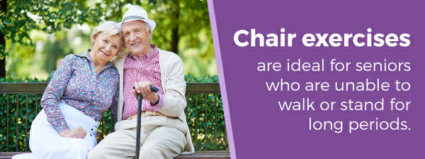 Chair exercises help seniors who can't walk