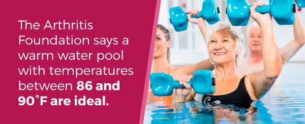 The Arthritis Foundation recommends a warm pool