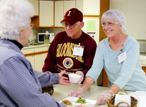 Serving Senior Meals at Mechanicsburg Place