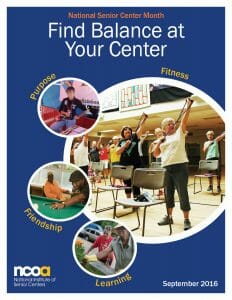 Senior Center Month 2016 Poster
