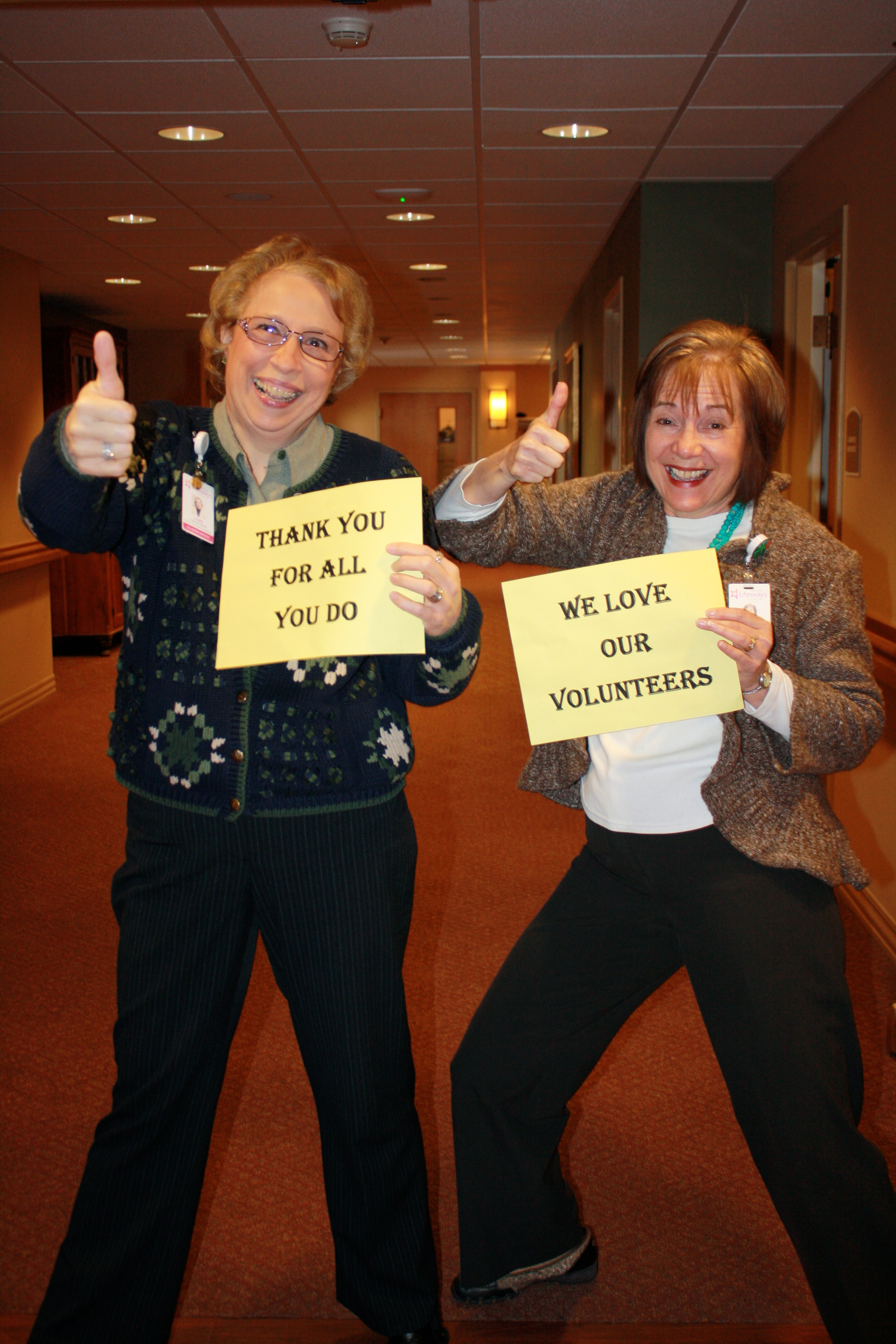 Thanking Volunteers at Retirement Center