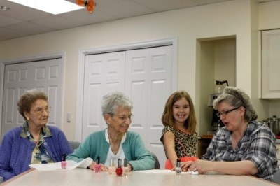 Intergenerational activity is a unique and special bonding experience for clients attending Messiah Lifeways Adult Day