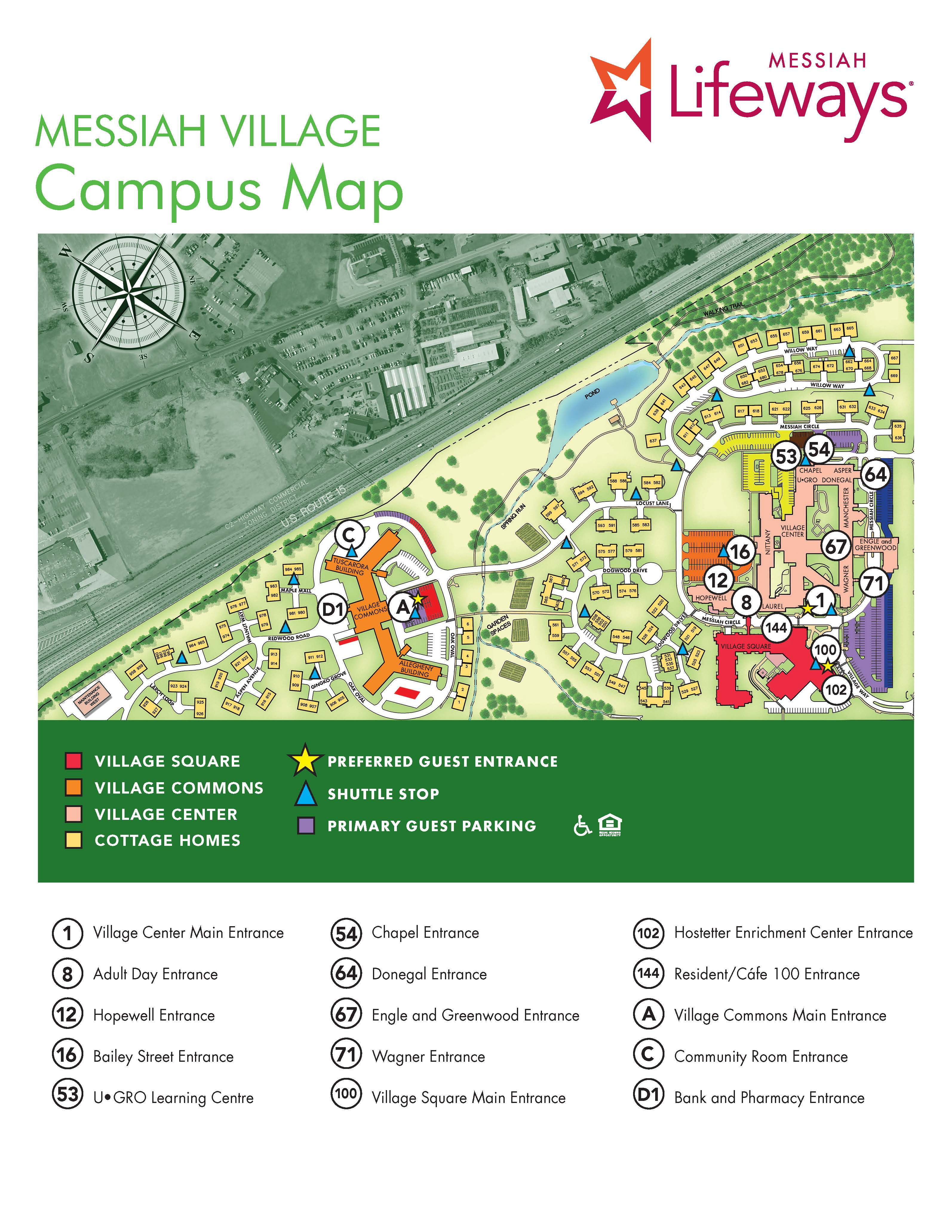 Mlw 0059 Resident And Team Member Campus Map Messiah Lifeways Blog